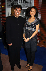 Leading Indian chef ANDY VARMA and his wife RUPALI at the charity Vanishing Herd Foundation - Conservation Ball held at the Radison Hotel, Portman Square, London on 13th November 2004.<br /><br />NON EXCLUSIVE - WORLD RIGHTS