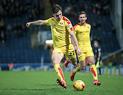 Joe Newell (Rotherham United) gets another cross in during the second half during the Sky Bet Championship match between Blackburn Rovers and Rotherham United at Ewood Park, Blackburn, England on 11 December 2015. Photo by Mark P Doherty.