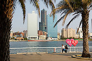 Love River in Kaohsiung, Taiwan is a beautiful area for everyone.  It has bicycle and pedestrian trails along both banks.