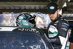 April 27, 2018 - Talladega, Alabama, United States of America - Ryan Truex (11) straps into his car to practice for the Spark Energy 300 at Talladega Superspeedway in Talladega, Alabama. (Credit Image: © Chris Owens Asp Inc/ASP via ZUMA Wire)