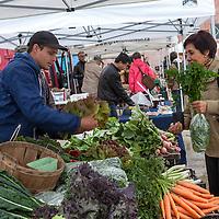 Fresh, local produce at a farmers' market.