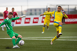 Ivan Firer of NK Domzale during 1st Leg football match between FC Valur Reykjavik and NK Domzale in 2nd Qualifying Round of UEFA Europa League 2017/18, on July 13, 2017 in Reykjevik, Iceland. Photo by Ziga Zupan / Sportida