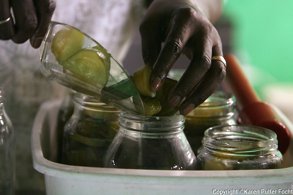 July 29th, 2010-Fanny Johnson loves to make her pickles sweet. She washes, soaks, slices her cucumbers before adding the sweet pickling juices to jars that will last her throughout the year.