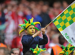 Norwich Young Fan, Middlesbrough v Norwich, Sky Bet Championship, Play Off Final, Wembley Stadium, Monday  25th May 2015