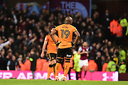 The Wolverhampton Wanderers players  look dejected as Villa score their fourth goal during the EFL Sky Bet Championship match between Aston Villa and Wolverhampton Wanderers at Villa Park, Birmingham, England on 10 March 2018. Picture by Dennis Goodwin.