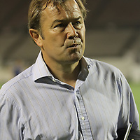 Orlando City Lions head coach Adrian Heath walks off the pitch after a United Soccer League Pro soccer match between the Pittsburgh Riverhounds and the Orlando City Lions at the Florida Citrus Bowl on May 14, 2011 in Orlando, Florida. Orlando won the game 1-0. (AP Photo/Alex Menendez)