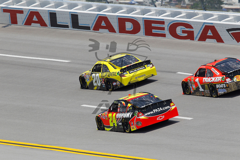 TALLADEGA, AL - MAY 04, 2012:  The NASCAR Sprint Cup teams take to the track for a practice session for the Aaron's 499 at the Talladega Superspeedway in Talladega, AL.