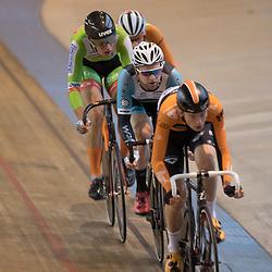 20-12-2015: Wielrennen: NK Baan: Alkmaar<br />ALKMAAR (NED) baanwielrennen  <br />Jesper Asseleman, Roy Pieters, Jan Willem van 't Schip