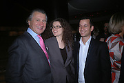 Arnaud Bamberger, Amanda Sharp and Matthew Slotover. Cartier Dinner hosted by Arnaud Bamberger, Matthew Slotover and Amanda Sharp to celebrate the artist featured in Frieze projects 2005. Nobu Berkeley St..  London. 21 October 2005. ONE TIME USE ONLY - DO NOT ARCHIVE © Copyright Photograph by Dafydd Jones 66 Stockwell Park Rd. London SW9 0DA Tel 020 7733 0108 www.dafjones.com