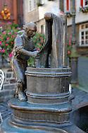 The Dyer, detail from the Weaver Fountain, Monschau, eingesandt von Wolfgang Elzer ..., Travel, lifestyle