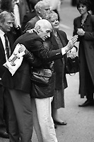 One of the Birmingham Six with family member following their release from the Court in London. 14/3/1991 (Part of the Independent Newspapers Ireland/NLI Collection)