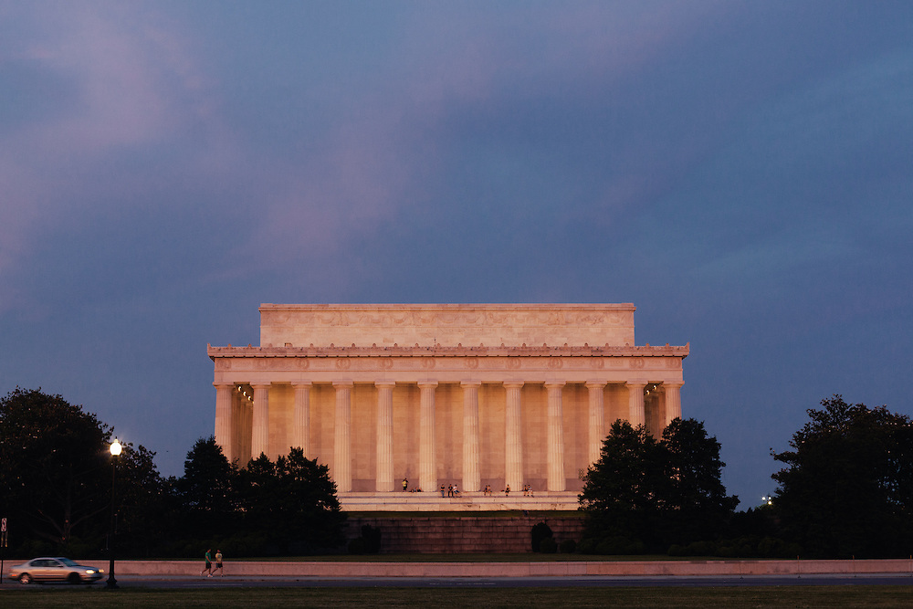The Lincoln Memorial, located on the National Mall in Washington, D.C. across from the Washington Monument.