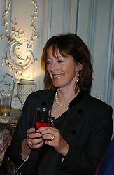 REBECCA FRASER at a party to celebrate the publication of 'Princesses' the six daughters of George 111 by Flora Fraser held at the Saville Club, Brook Street, London W1 on 14th September 2004.<br /><br />NON EXCLUSIVE - WORLD RIGHTS