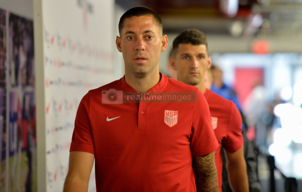 September 1, 2017 - Harrison, NJ, USA - Harrison, N.J. - Friday September 01, 2017: Clint Dempsey during a 2017 FIFA World Cup Qualifying (WCQ) round match between the men's national teams of the United States (USA) and Costa Rica (CRC) at Red Bull Arena. (Credit Image: © John Todd/ISIPhotos via ZUMA Wire)