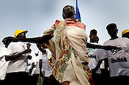 Women celebrate election results in the heavily fought over Unity state which pumps much of South Sudan's oil.