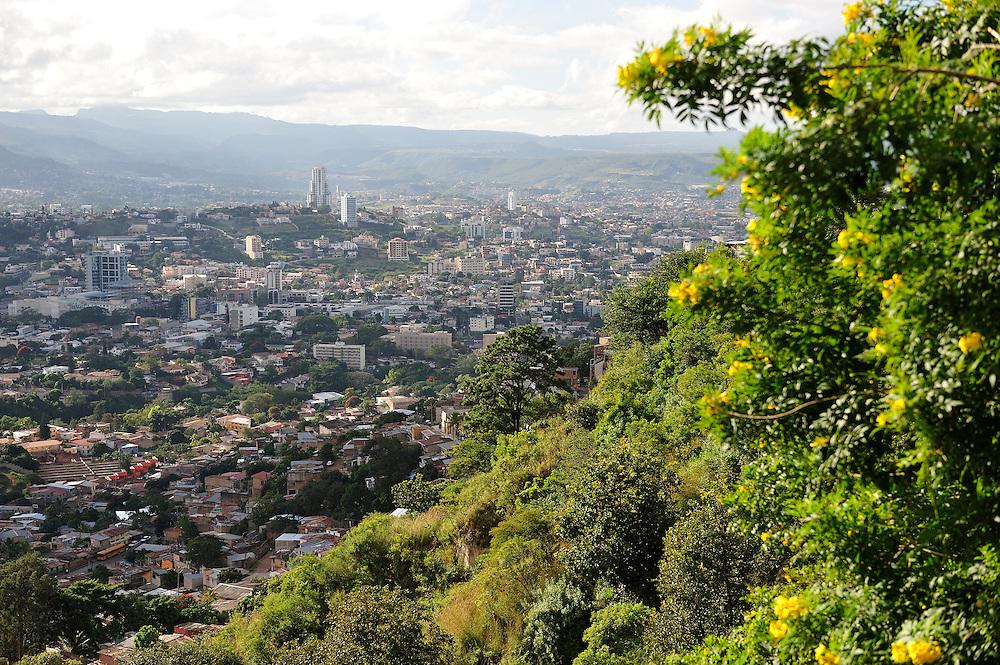 View over Tegucigalpa, Capitol City, Central America, Honduras.