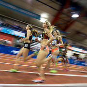 February 15, 2014 - New York, NY : <br /> Athletes including Mary Cain, left, compete in the NYRR Women's Wanamaker Mile (ELITE) during the 2014 NYRR Millrose Games at the The New Balance Track & Field Center at The Armory in Washington Heights, Manhattan, on Saturday afternoon. Cain finished first. <br /> CREDIT: Karsten Moran for The New York Times