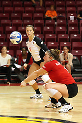 01 September 2012:  Jenny Menendez during an NCAA womens volleyball match between the Oregon State Beavers and the Illinois State Redbirds at Redbird Arena in Normal IL