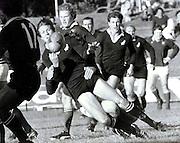 Bruce Robertson, New Zealand All Blacks, rugby union, 1976. Photo: PHOTOSPORT/Peter Bush