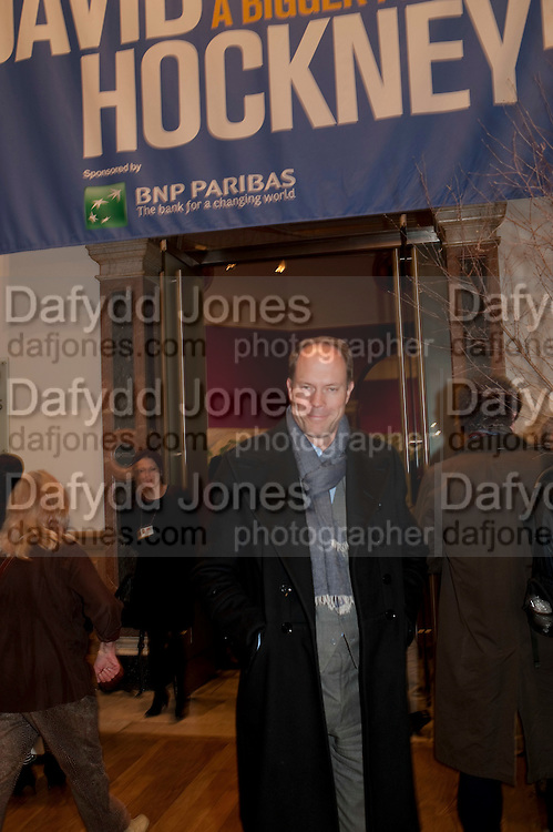 HARRY BLAIN, Opening of David Hockney ' A Bigger Picture' Royal Academy. Piccadilly. London. 17 January 2012