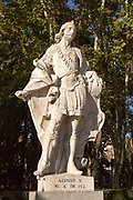 Statues of Spanish monarchs, Plaza de Oriente, Madrid, Spain, King Alonso III