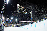 during Men's Snowboard Pipe Finals at 2014 X Games Aspen at Buttermilk Mountain in Aspen, CO. ©Brett Wilhelm/ESPN
