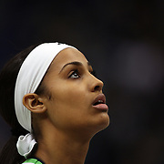 Skylar Diggins, Notre Dame, during warm up before the Connecticut V Notre Dame Final match won by Notre Dame during the Big East Conference, 2013 Women's Basketball Championships at the XL Center, Hartford, Connecticut, USA. 11th March. Photo Tim Clayton