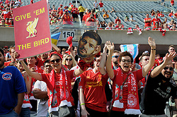 CHICAGO, USA - Sunday, July 27, 2014: Liverpool supporters before the International Champions Cup Group B match against Liverpool at the Soldier Field Stadium on day seven of the club's USA Tour. (Pic by David Rawcliffe/Propaganda)
