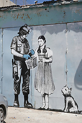 Graffiti by Banksy on the wall of separation in Bethlehem. From a series of travel photos taken in Jerusalem and nearby areas. Photo date: Wednesday, August 1, 2018. Photo credit should read: Richard Gray/EMPICS