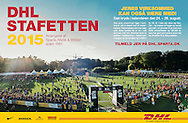 A poster to promote the 2015 DHL Stafetten in Copenhagen