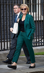 © Licensed to London News Pictures. 22/07/2019. London, UK. Andrea Leadsom arrives for Prime Minister Theresa May's farewell drinks reception at Downing Street.  Voting in the Conservative party leadership election ends today with the results to be announced tomorrow. Photo credit: Peter Macdiarmid/LNP