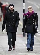 29.DECEMBER.2011 LONDON<br /> <br /> RICKY GERVAIS AND PARTNER JANE FALLON HAVING A STROLL THROUGH PRIMROSE HILL.<br /> <br /> BYLINE: EDBIMAGEARCHIVE.COM<br /> <br /> *THIS IMAGE IS STRICTLY FOR UK NEWSPAPERS AND MAGAZINES ONLY*<br /> *FOR WORLD WIDE SALES AND WEB USE PLEASE CONTACT EDBIMAGEARCHIVE - 0208 954 5968*