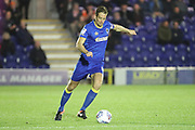 AFC Wimbledon defender Paul Robinson (6) passing the ball during the EFL Trophy match between AFC Wimbledon and Luton Town at the Cherry Red Records Stadium, Kingston, England on 31 October 2017. Photo by Matthew Redman.
