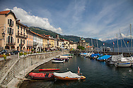 The waterfront, Cannobio, Italy on Lake Maggiore.