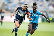 SYDNEY, AUSTRALIA - NOVEMBER 17: Melbourne Victory forward Darian Jenkins attacking during the round 1 W-League soccer match between Sydney FC Women and Melbourne Victory Women on November 17, 2019 at Netstrata Jubilee Stadium in Sydney, Australia. (Photo by Speed Media/Icon Sportswire)