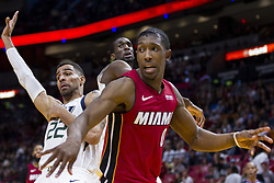 January 7, 2018 - Miami, FL, USA - Miami Heat's Josh Richardson (0) reacts after passing the ball in the fourth quarter against the Utah Jazz on Sunday, Jan. 7, 2018 at the AmericanAirlines Arena in Miami, Fla. The Miami Heat defeated the Utah Jazz, 103-102. (Credit Image: © Matias J. Ocner/TNS via ZUMA Wire)