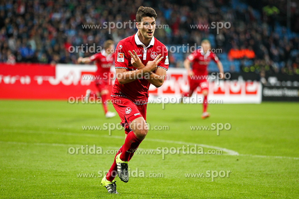 25.09.2015, Rewirpower Stadion, Bochum, GER, 2. FBL, VfL Bochum vs 1. FC Kaiserslautern, 9. Runde, im Bild Torjubel 0zu1 nach Tor durch Antonio Colak (#10, 1. FC Kaiserslautern) // during the 2nd German Bundesliga 9th round match between VfL Bochum and 1. FC Kaiserslautern at the Rewirpower Stadion in Bochum, Germany on 2015/09/25. EXPA Pictures &copy; 2015, PhotoCredit: EXPA/ Eibner-Pressefoto/ Deutzmann<br /> <br /> *****ATTENTION - OUT of GER*****