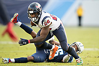 NASHVILLE, TN - DECEMBER 3:  Lamar Miller #26 of the Houston Texans runs the ball during a game against the Tennessee Titans at Nissan Stadium on December 3, 2017 in Nashville, Tennessee.  The Titans defeated the Texans 23-14.  (Photo by Wesley Hitt/Getty Images) *** Local Caption *** Lamar Miller