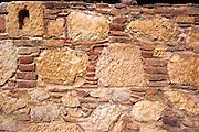 Detail of wall masonry stonework at Lycian city of Tlos, Turkey