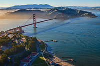 Golden Gate Bridge, Torpedo Wharf & Marin Headlands