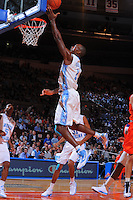 North Carolina guard/forward Marcus Ginyard #1 drives for a lay-up during the 2K Sports Classic at Madison Square Garden. (Mandatory Credit: Delane B. Rouse/Delane Rouse Photography)