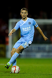 Plymouth Midfielder Conor Hourihane (IRL) in action during the second half of the match - Photo mandatory by-line: Rogan Thomson/JMP - Tel: Mobile: 07966 386802 08/10/2013 - SPORT - FOOTBALL - County Ground, Swindon - Swindon Town v Plymouth Argyle - Johnstone Paint Trophy Round 2.