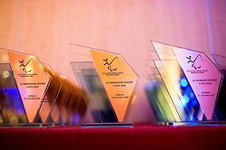 Trophies during Slovenian Disabled Sports personality of the year 2018 event, on December 11, 2018 in Austria Trend Hotel, Ljubljana, Slovenia. Photo by Vid Ponikvar / Sportida