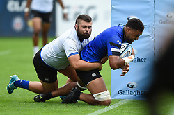 Taulupe Faletau scores a try, Bath Rugby were allowed to start Stage Two of the Premiership Rugby return to play protocol - Mandatory byline: Patrick Khachfe/JMP - 07966 386802 - 06/08/2020 - RUGBY UNION - The Recreation Ground - Bath, England - Bath Rugby training