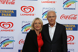 12.04.2019, Europa Park, Rust, GER, Radio Regenbogen Award 2019, im Bild Franz Beckenbauer (Ex-Fußball-Profi und Ehrenpräsident FC Bayern) mit Ehefraue Heidi // during the Radio Rainbow Award at the Europa Park in Rust, Germany on 2019/04/12. EXPA Pictures © 2019, PhotoCredit: EXPA/ Eibner-Pressefoto/ Joachim Hahne<br /> <br /> *****ATTENTION - OUT of GER*****