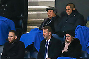 Queens Park Rangers CEO Lee Hoos (bottom middle), co-owner and vice-chairman Ruben Gnanalingam (top right) during the EFL Sky Bet Championship match between Queens Park Rangers and Preston North End at the Kiyan Prince Foundation Stadium, London, England on 7 December 2019.