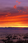 Sunrise from UL Bend Wilderness Area, part of the Charles M. Russell National Wildlife Refuge. Central Montana