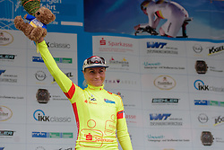New race leader after her solo stage win, Olga Zabelinskaya (Russia) at Thüringen Rundfarht 2016 - Stage 2 a 103km road race starting and finishing in Erfurt, Germany on 16th July 2016.