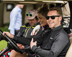 Ronan Keating and Storm Keating at The ISPS HANDA Mike Tindall Celebrity Golf Classic<br /> <br /> (c) John Baguley | Edinburgh Elite media