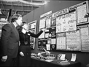 06/01/1978.01/06/1978.6th January 1978.The Aer Lingus Young Scientist of the Year Exhibition at the RDS, Dublin...Mary O'Hara, of St. Louis High School, Rathmines, Dublin showing her project exhibit Home Hygiene to the Minister for Health and Social Welfare, Mr. Charles Haughey, T.D. The Minister is currently running a National Hygiene Campaign with the slogan, 'Clean Up- Fight Infection' and Mary's project was one of the award winners.